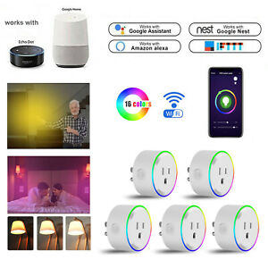 Smart-Plug-Wall-Outlet-Wifi-Socket-LED-Light-Switch-For-Amazon-Alexa-Google-Home