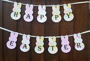 Buona-Pasqua-Striscione-fatto-a-mano-Coniglio-di-Pasqua-Bandierine-Ghirlanda-Festa-Decorazione