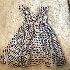 Dot dot smile dress girls. twirl geometric flutter sleeve size 3/4