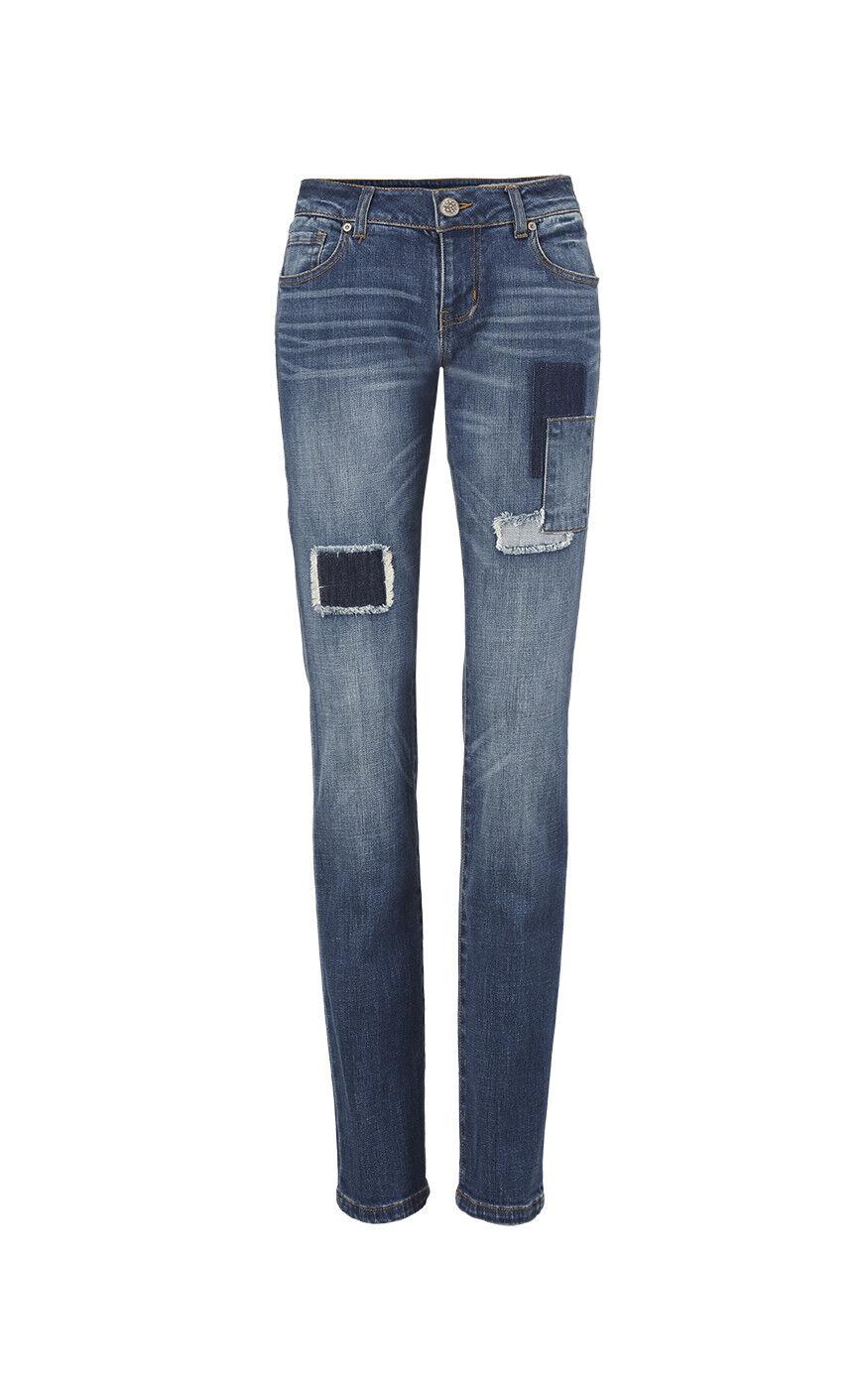 CAbi NWT Women's Size 4 5308 Slim Boyfriend Jeans Patchy Spring '18