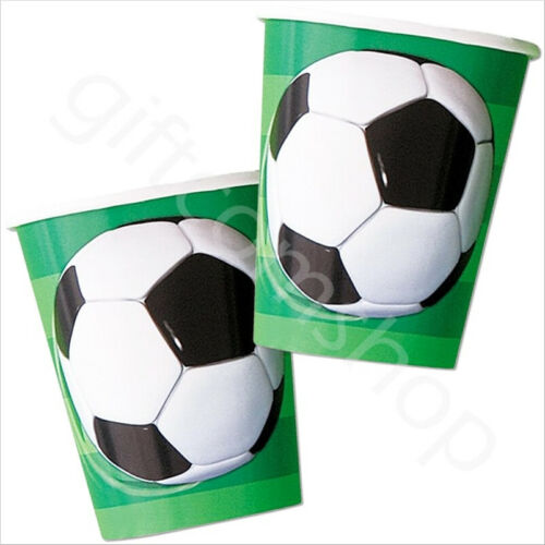 Pk 8 3D Soccer Football Party Cups 9oz Boys Birthday Party Tableware Supplies