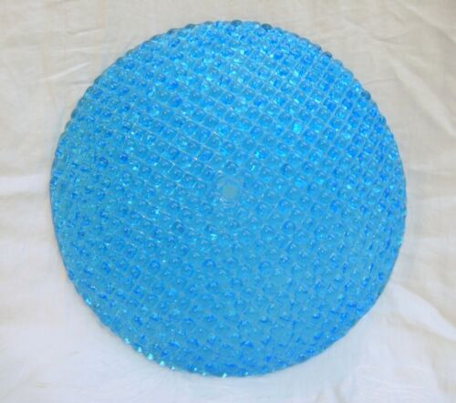 Italian Murano Glass Lamp Shade Dome New Old Stock 4 Available Ice Blue