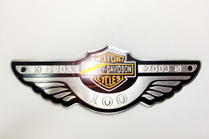 Motorcycles 100th Davidson S Metal Wings Rider Tank Decal Sticker Biker Harley S Ebay