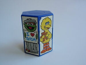 Details About Vintage 1994 Applause Sesame Street Characters Turn Puzzle Toy Sqeaks Elmo Trash