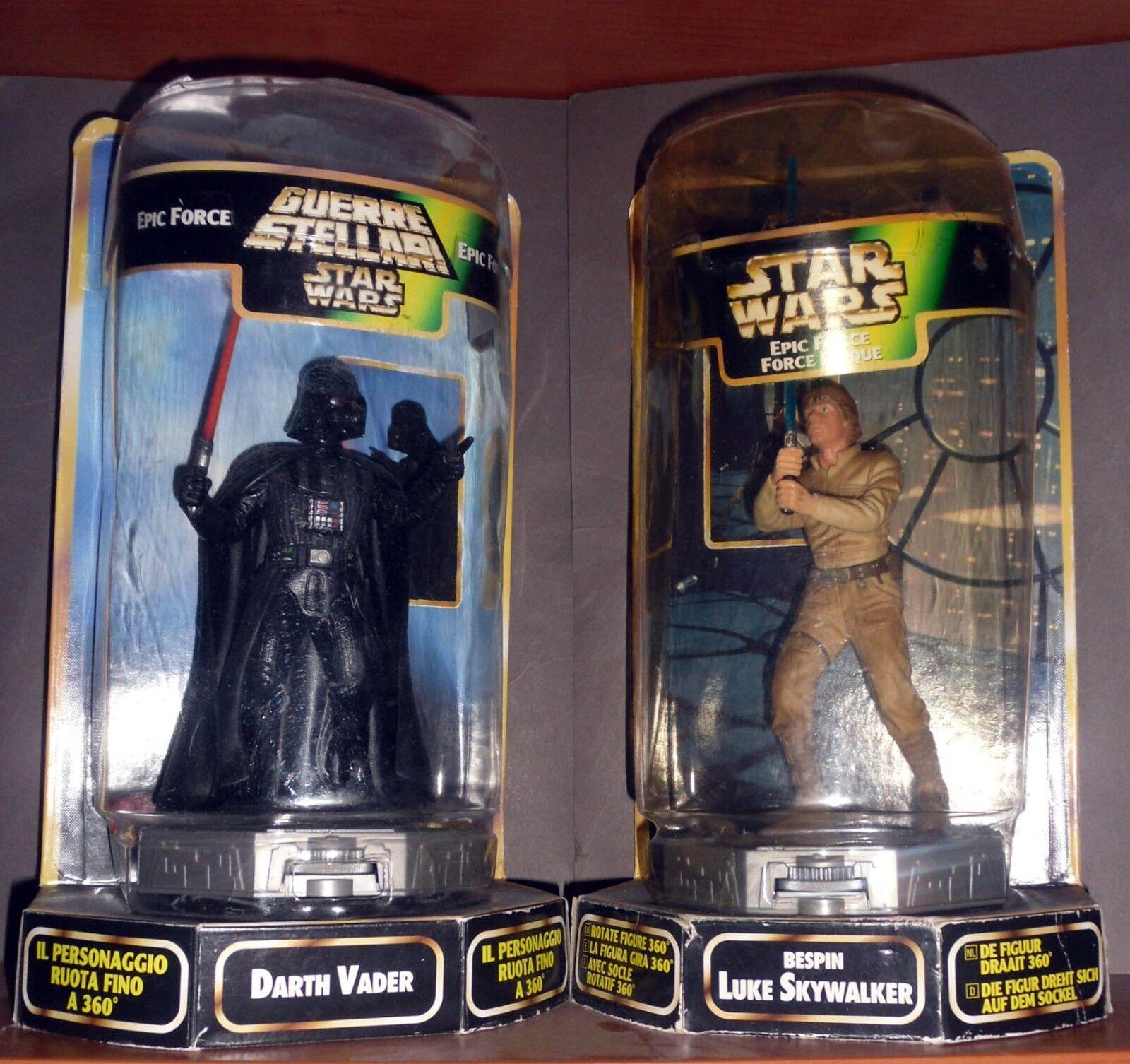 2 Action Figure KENNER Star Wars Epic Force DARTH VADER + LUKE SKYWALKER Box