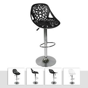 Details zu 2 Sgabelli bar moderni set sgabello design cucina regolabile  sedia nuovo Giglio