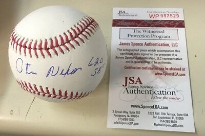 Autographs-original Trustful Jsa Authenticated Otis Nixon Autographed Mlb Baseball W/620 Stolen Bases Insc Balls