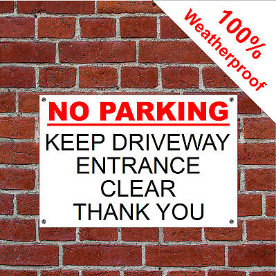 Private driveway no stopping or turning thank you sign polite parking sign 3047