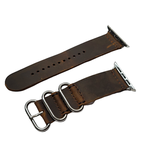 Vintage Leather Band Compatible with Apple Watch Band 42mm 44mm, Genuine Leather