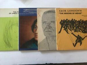 Poetry-LOT-4-Records-Poems-Read-Spoken-Word-Oakes-Jack-London-James-Stephen-Pope
