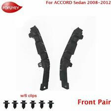 For Accord Sedan 2008 2012 Front 2pc Bumper Bracket Retainer Plastic Hold Mount Fits 2008 Honda Accord