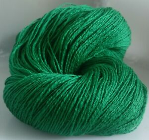 700g-OF-3-PLY-DARK-GREEN-ITALIAN-100-MERINO-LAMBSWOOL-KNITTING-WOOL-7-SKEINS