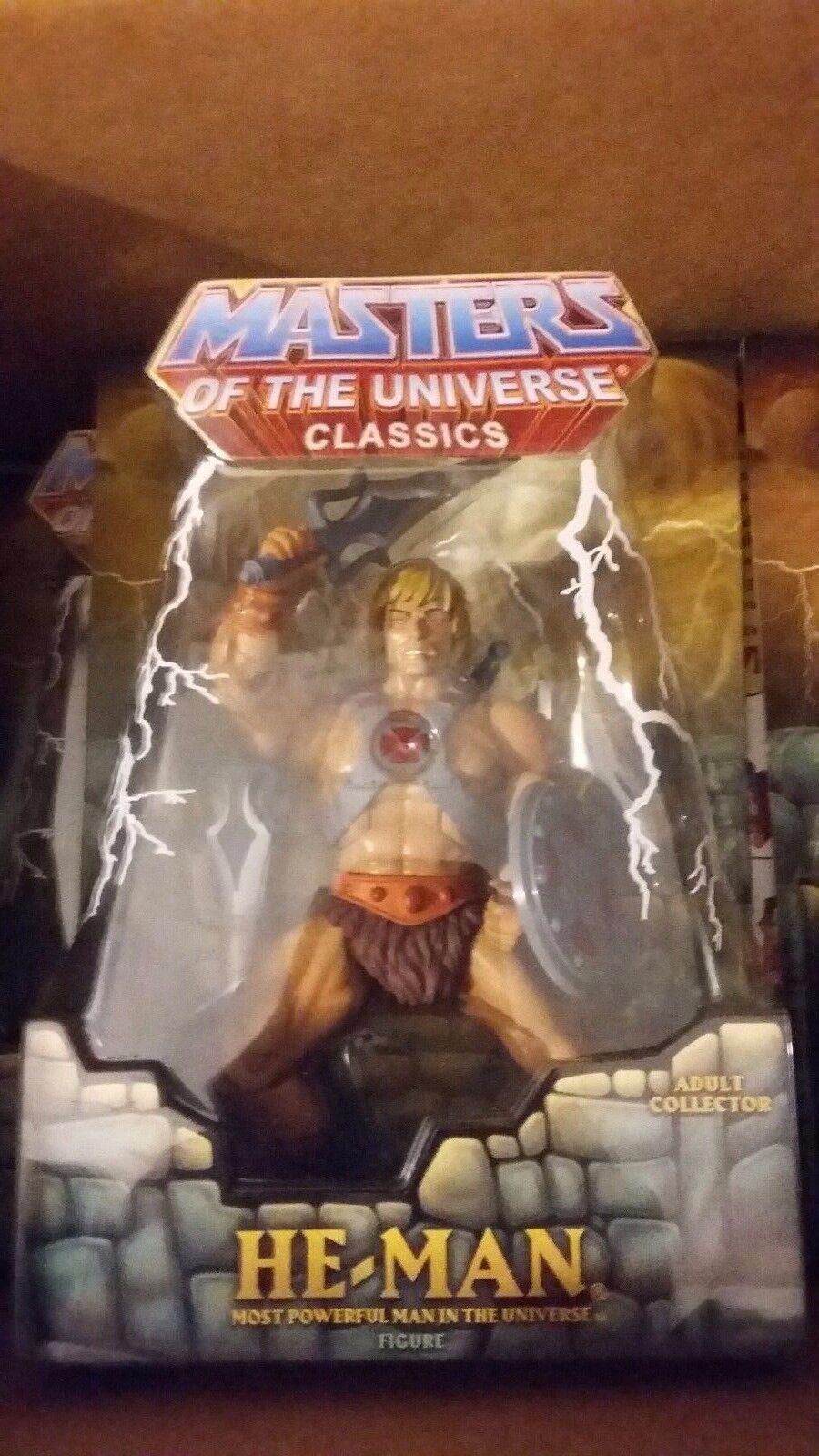 Masters del universo clásicos 1st impresión él Man Figura envío a todo el mundo Nuevo Raro