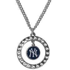 New York Yankees Rhinestone Necklace MLB Licensed Baseball Jewelry