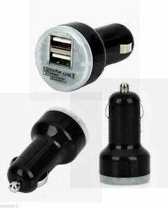 Actecom Cargador Coche Doble USB Mechero 2,1A Universal, Carga Base - Negro