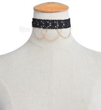 Choker Halskette Halsband Kette Collier Spitze Gold Kolye Kropfband Goldkette
