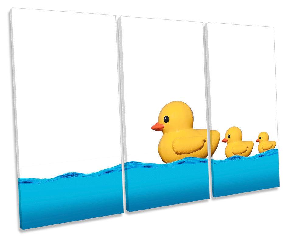 Moderne caoutchouc canards de murale bain treble toile murale de art box encadrée photo e093ca