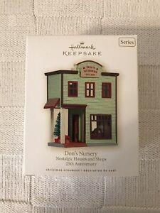 2008-Hallmark-DON-039-S-NURSERY-Nostalgic-Houses-amp-Shops-Christmas-Ornament-25th