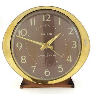 Vintage-Westclox-Big-Ben-Alarm-Clock-Mid-Century-Modern-MCM-As-Is-Parts-T290