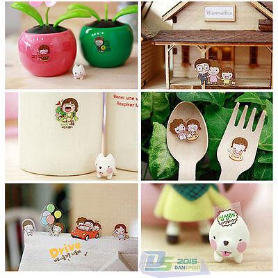 6 Sheets Cute Momoi Scrapbooking Diary Book PVC Korean Memo Stickers Decor Set