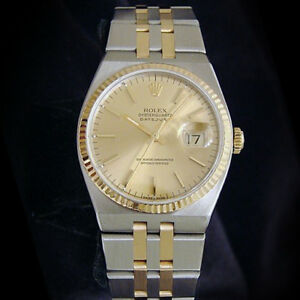 1d9505c63595 Image is loading Rolex-Oysterquartz-Datejust-Men-18K-Gold-amp-Stainless-