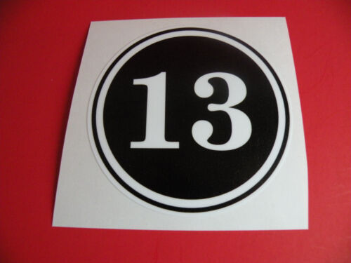 "#589 2 2/"" Lucky 13 Unlucky thirteen hayabusa Decal Sticker Laptop Laminated"