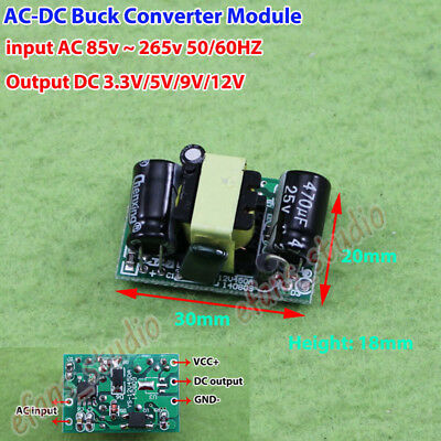 3Pcs AC-DC 220V To 12V1A Isolation Switch Power Module 12W Sw