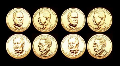 2013 P+D Presidential Mint Set ~ McKinley Roosevelt Taft Wilson ~ No S Proof