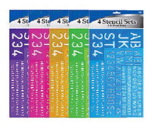 """4Pcs SET 1-1//8/"""" Alphabet Letters /& Numbers Stencils Plastic Blue 8 10 20 30mm"""