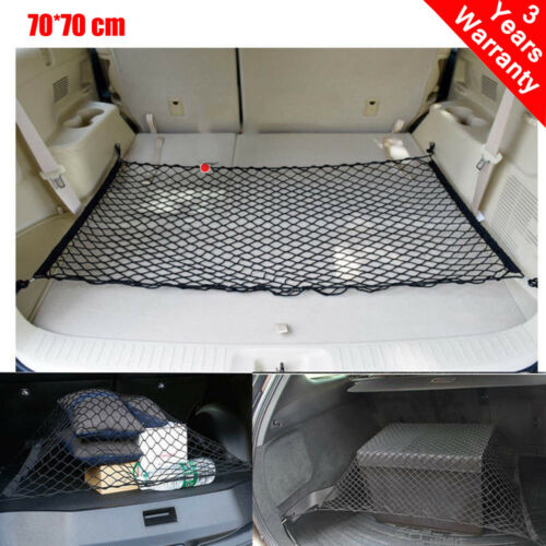Universal 4 Hook Rear Trunk CARGO NET Car Nylon Elastic Mesh Organizer Truck Mes