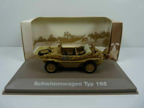 Porsche Schwimmwagen Typ 166 BL21U Atlas Ixo 1//43 Panzer WW2