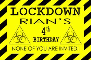 Happy Birthday Custom Quarantine Banner Quarantine Birthday 18th Quarantine Birthday Isolation Party COVID Birthday Banner