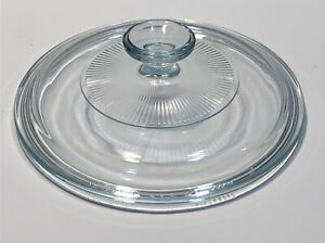 Pyrex-Corning-G-5-C-Clear-Round-Starburst-Glass-Replacement-Lid-7-5-8-034-Domed
