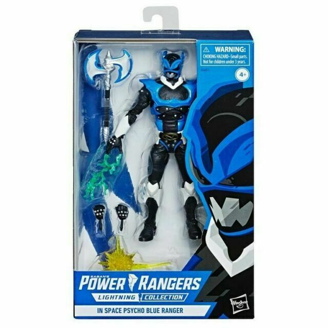 Hasbro E6483 Power Rangers Lightning Collection in Space Psycho Blue Ranger Fig…