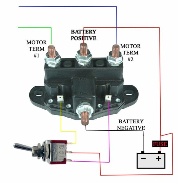 relay winch motor reversing solenoid switch 12 volt bidirectional rh ebay com Ramsey Winch Parts Diagram Badland Winch Wire Diagram