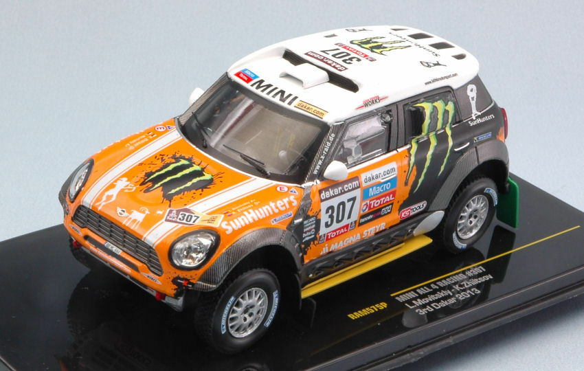 Mini All 4 rd Dakar 2013 L. Movitskly   K. Zhiltsov 1 43 Model RAM575