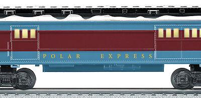 LIONEL 6-84605 THE POLAR EXPRESS BAGGAGE PASSENGER CAR TRAIN O GAUGE SNOW ROOF