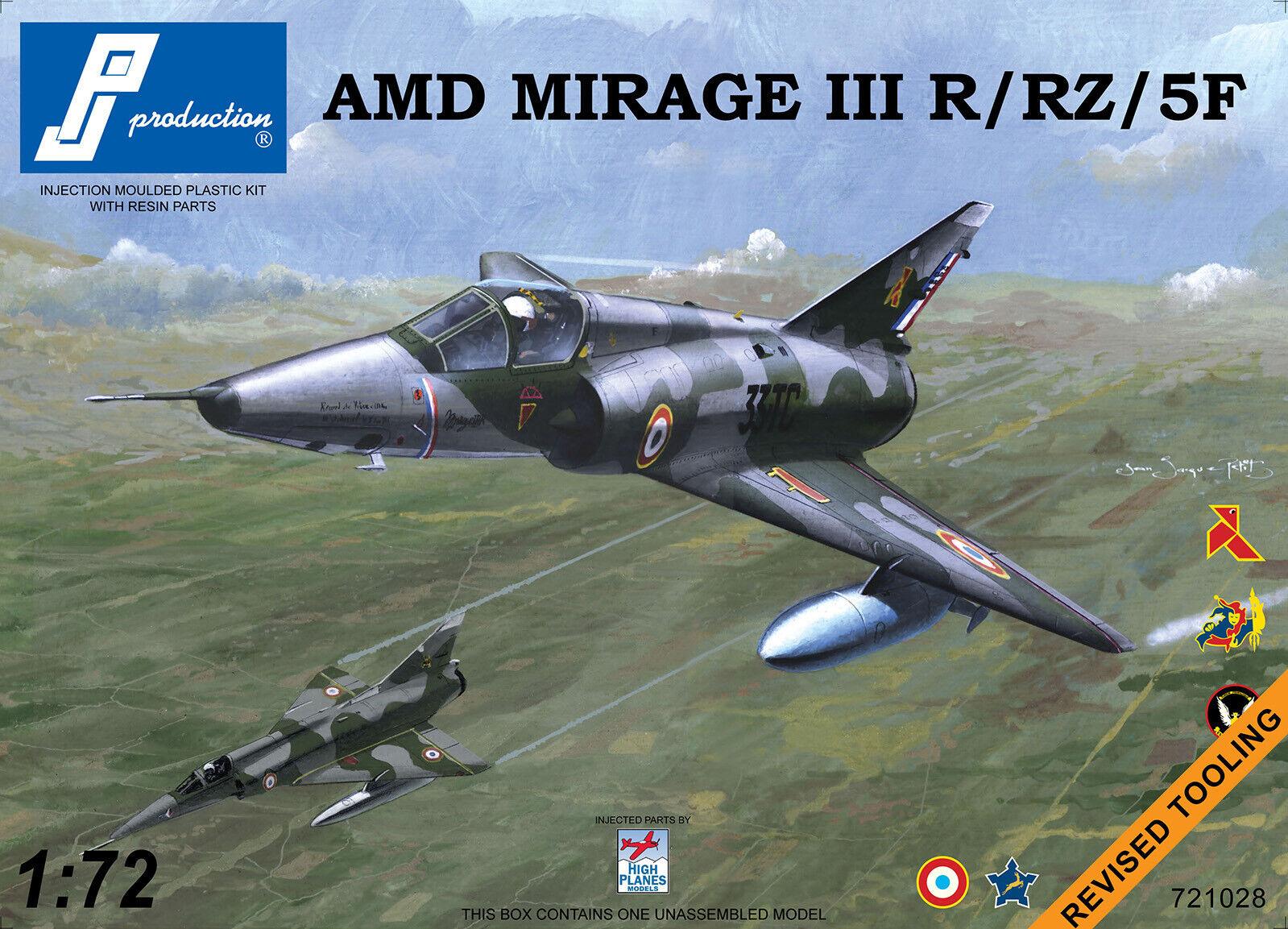 contatore genuino Pj Productions 1 72 Dassault Mirage Iiir     5f  721028  per il commercio all'ingrosso