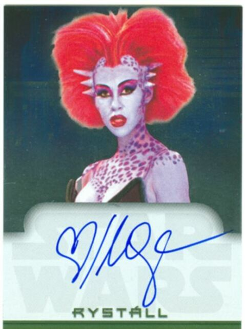 Star Wars Evolution Autograph Card Mercedes Ngoh As Rystall Ebay