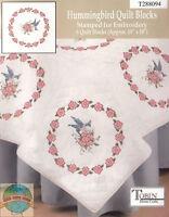 Embroidery Kit Tobin / Design Works Hummingbird Floral Quilt Blocks (6) T288094