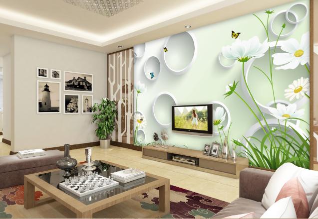 3D Schmetterling Gänseblümchen 85 Tapete Wandgemälde Tapeten Bild Familie DE