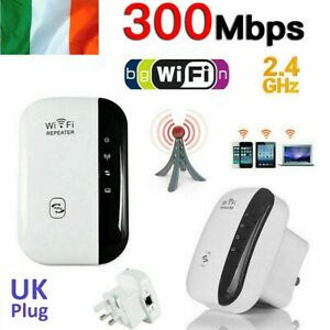 300Mbps-WiFi-Booster-Repeater-Signal-Range-Extender-Super-Strong-2-4GHz-UK-Plug