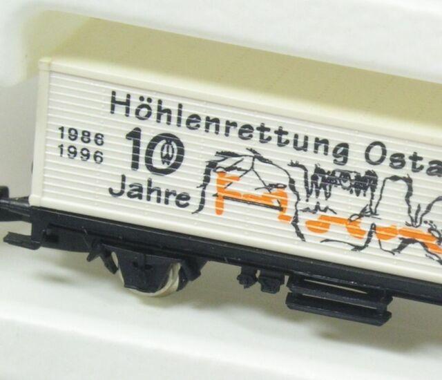 Z Containerwagen 10 J. Höhlenrettung Ostalb/Filstal Märklin Somo NEU OVP