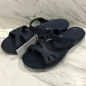 Crocs Womens Kelli Sandals Navy Blue
