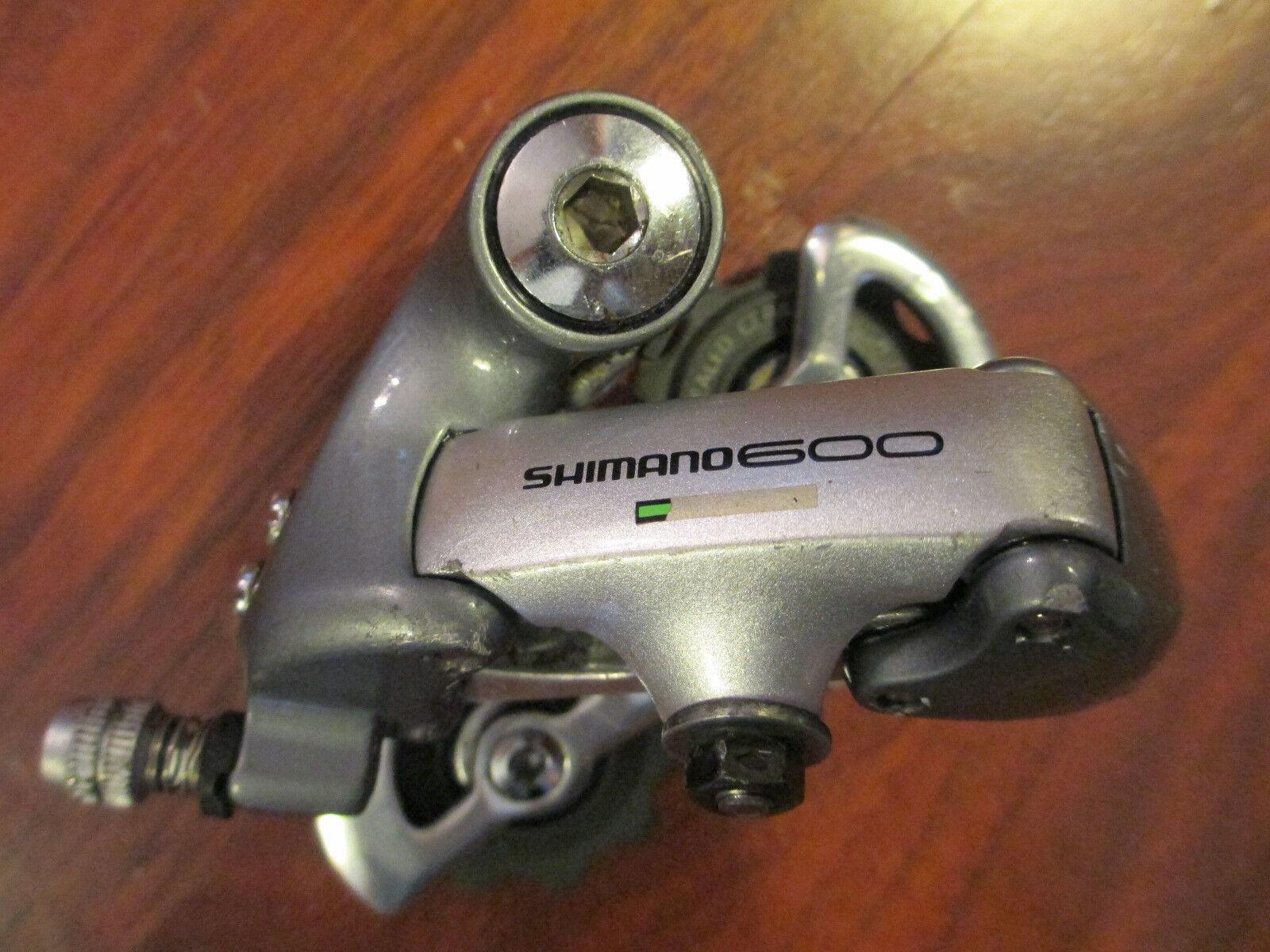 SHIMANO 600 TRI COLOR ULTEGRA RD 6401 DOUBLE SHORT CAGE REAR DERAILLEUR