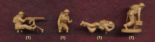 4 Figures in Box Zvezda 1//72 6167 WWII British Machine Gun Crew