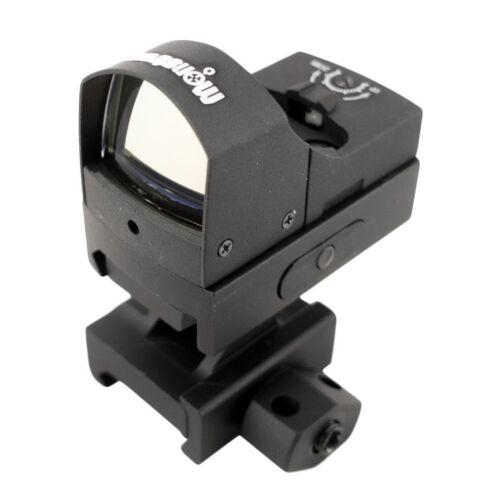 Ultra Compact Refelx Sight, Red Dot Sight, w/ 1 Picatinny Riser Mount Matte BLK