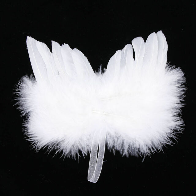 angel white feather wing christmas tree decoration hanging ornament wedding - Feather Christmas Tree Decorations