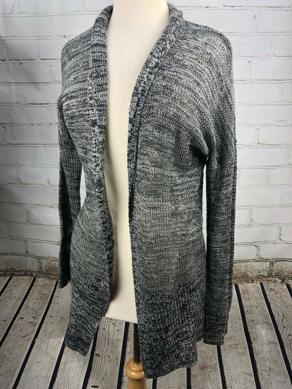 SKIES ARE blueE Open Wrap Cardigan Long Sweater Sz M Lightweight Anthropologie