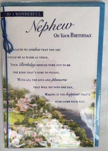Avec amour à un merveilleux neveu pour ton anniversaire-Anniversaire Carte De Vœux